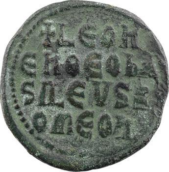 Léon VI, follis type 1, Constantinople, 886-912
