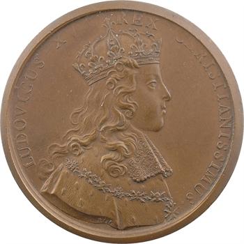 Louis XV, sacre à Reims le 25 octobre 1722, par Rög et Blanc, bronze, 1722 [après 1880] Paris