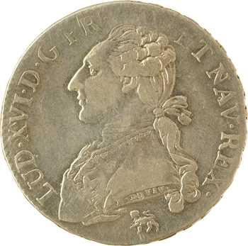 Louis XVI, demi-écu aux rameaux d'olivier, 1791, 2d semestre, Paris (.A)
