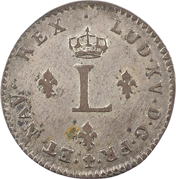 Louis XV, double sol, 1741 Troyes