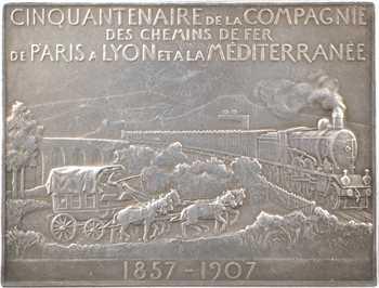 Vernon (F.) : cinquantenaire de la compagnie Paris-Lyon-Méditerranée, 1857-1907 Paris