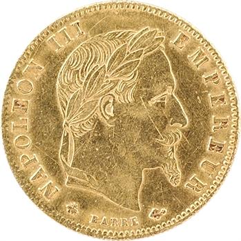 Second Empire, 5 francs tête laurée, 1863 Paris