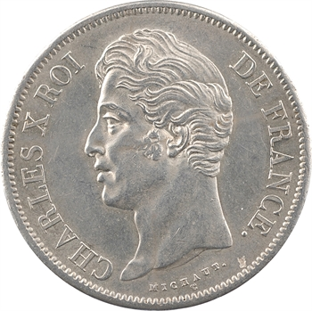 Charles X, 5 francs 2e type, 1829 Rouen