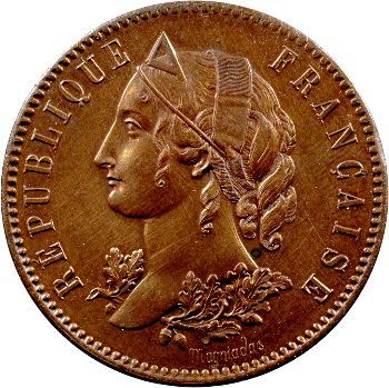 IIe République, concours de 5 francs par Magniadas, 1848 Paris