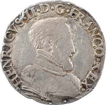 Henri II, teston à la tête nue 1er type, 1554 Limoges