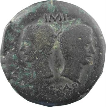 Divin César et Octave, dupondius, Vienne, c.36 av. J.-C.