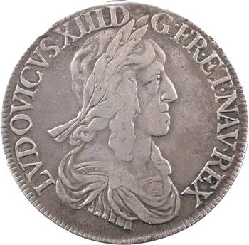 Louis XIII, écu d'argent, 3e type (2e poinçon), 1643 Paris (point)
