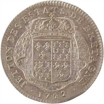 Bretagne (États de), jeton en argent des États de Nantes, 1722 Paris