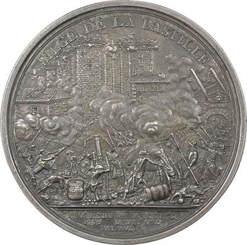 Constitution, le siège de la Bastille, uniface, 1789 Paris