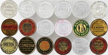 IIIe République, lot de 34 timbres-monnaie, s.d.