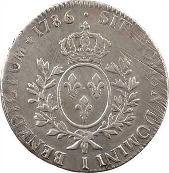 Louis XVI, écu aux rameaux d'olivier, 1786 Limoges