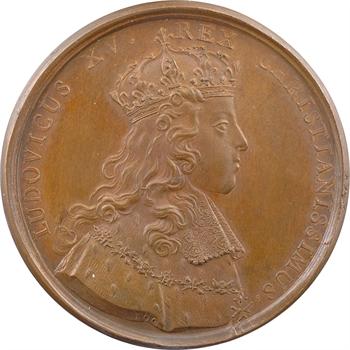 Louis XV, sacre à Reims le 25 octobre 1722, par Rög et Blanc, cuivre, 1722 Paris