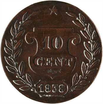 Louis-Philippe Ier, essai de 10 centimes de Lucy, 1838 Metz