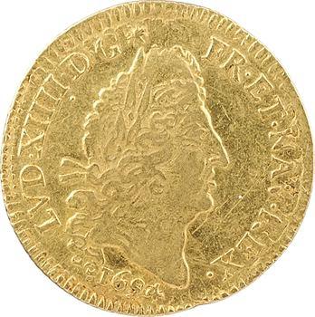 Louis XIV, demi-louis d'or aux quatre L, 1694 Paris