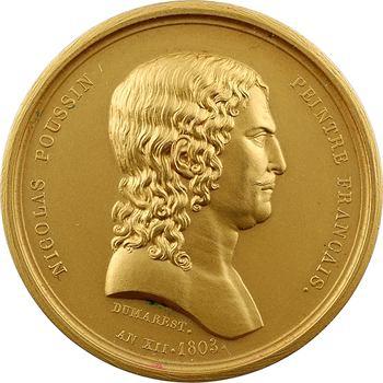 IIIe République, prix de peinture, à l'effigie de Nicolas Poussin, par Ramberg Dumarest (1803), 1918 Paris