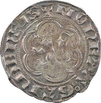 Flandre (comté de), Louis de Crécy, petit gros au lion, s.d. (1322-1346) Gand