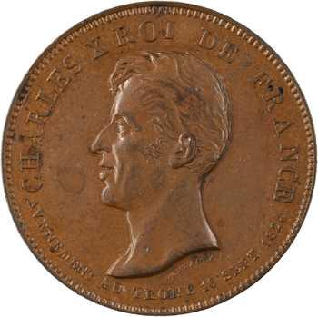 Charles X, médaille du sacre par Montagny, 1825 Paris