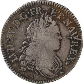 Louis XV, quart d'écu de Navarre, 1718 Poitiers
