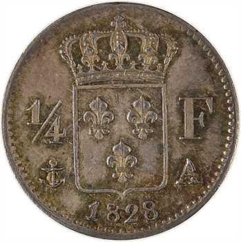 Charles X, 1/4 de franc, 1828 Paris