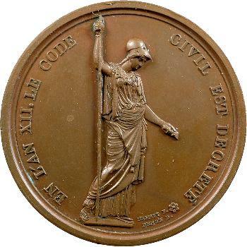 Premier Empire, médaille pour la création du code civil, 1804, l'an XII Paris