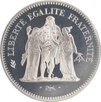 Ve République, piéfort de 50 francs Hercule, 1977 Pessac
