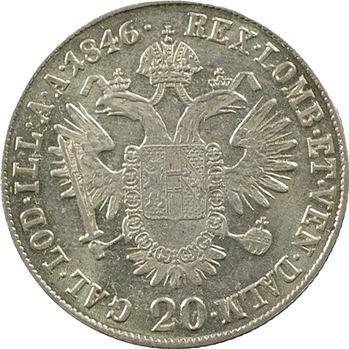 Autriche, Ferdinand Ier, 20 kreuzer, 1846