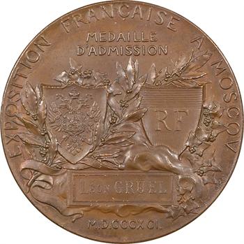 Russie, Exposition française à Moscou par Roty, 1891 Paris