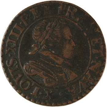 Louis XIII, double tournois, 1614 Amiens
