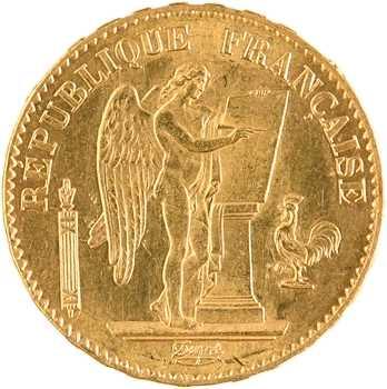 IIIe République, 20 francs Génie, 1877 Paris