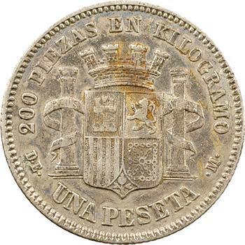 Espagne (Gouvernement provisoire), 1 peseta, 1870 (18 – 73) Madrid