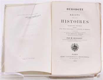 Hérodote, Récits tirés de ses histoires, Paris 1860