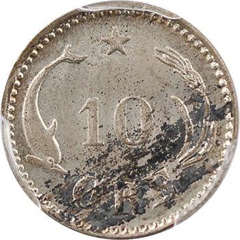 Danemark, Christian IX, 10 ore, 1886 Copenhague, PCGS MS64