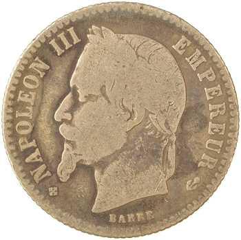 Second Empire, 50 centimes tête laurée, 1866 Strasbourg