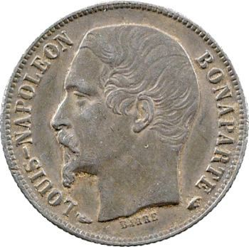 IIe République, 50 centimes Louis-Napoléon Bonaparte, 1852 Paris
