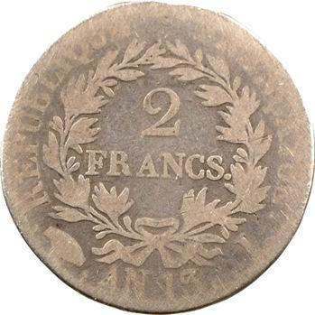 Premier Empire, 2 francs calendrier révolutionnaire, An 13/12 Limoges