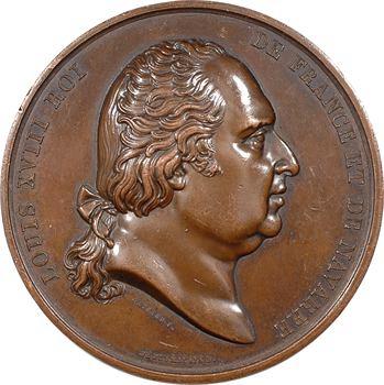 Louis XVIII, pose de la première pierre du Pont de Libourne, 1820 Paris