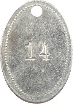 Indochine, Tonkin, Hanoï, plaque de taxe, n° 14, 1932