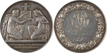 IIIe République, médaille-boîte de mariage, par Petit, 1897