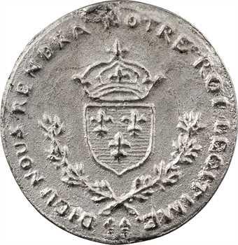 IIe République, Henri de France (Henri V), médaille en étain 1848