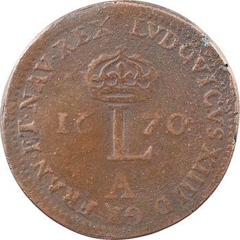 Amérique, double de l'Amérique Françoise, 1670 Paris, formé de deux clichés soudés en étain bronzé