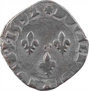 Charles X, double tournois, 1592 Troyes