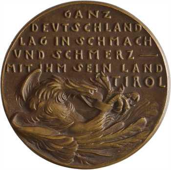 Allemagne/Ire Guerre mondiale, le référendum au Tyrol, par Karl Goetz, fonte, 1921 Berlin