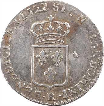 Louis XV, sixième d'écu de France, 1722 Orléans