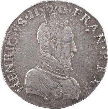 Charles IX (au nom d'Henri II), teston 1er type, 1561 Rouen