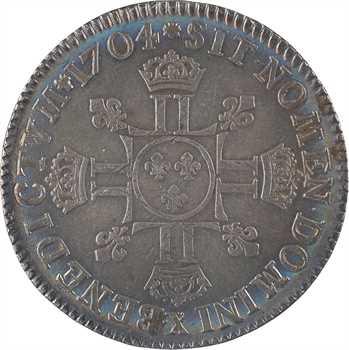 Louis XIV, demi-écu aux huit L, 2e type, 1704 Amiens