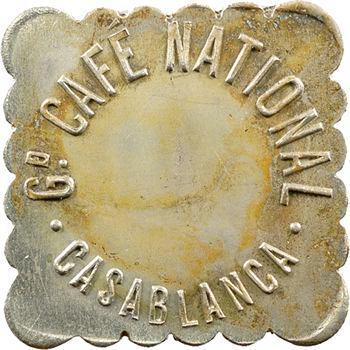Maroc, Casablanca, 50 centimes Grand Café national, s.d