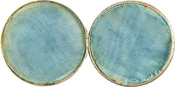 Second Empire, médaille-boîte de mariage, 1868