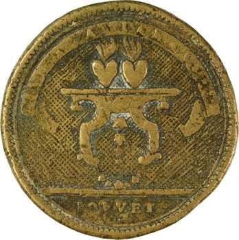 Ancien régime, médaille de mariage par Ponvet, s.d