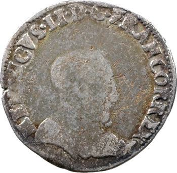 Charles IX (au nom d'Henri II), demi-teston à la tête nue 1er type, 1561 Bayonne