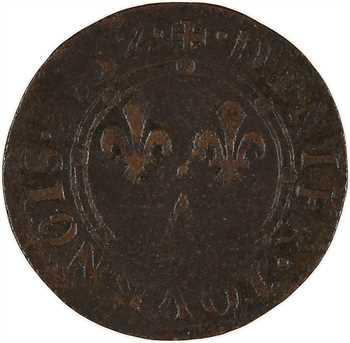 Ardennes, Charleville (principauté de), Charles II de Gonzague, denier tournois 3e type, 1652 Charleville